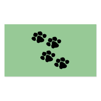 Animal Paw Prints Business Card Templates