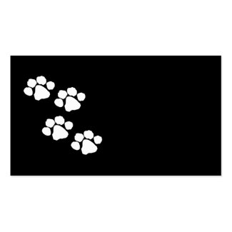 Pets Paw Prints Black and White Cards
