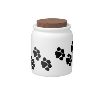 Animal Paw Prints Candy Jar and Gifts