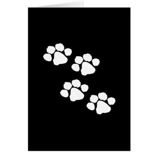 Animal Paw Prints Card