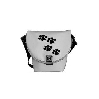 Animal Paw Prints Courier Bag