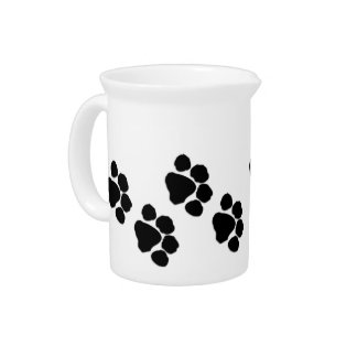 Animal Paw Prints Drink Pitcher