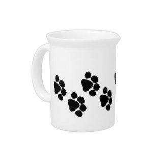 Animal Paw Prints Drink Pitcher