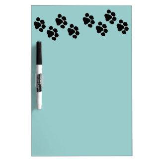 Animal Paw Prints Dry-Erase Board