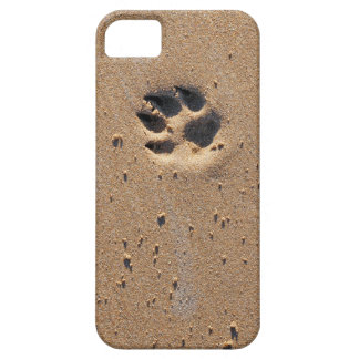 Animal paw prints in sand iPhone SE/5/5s case