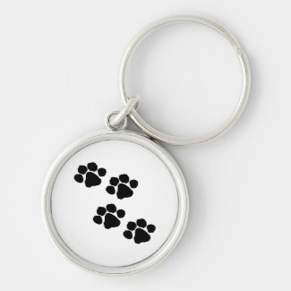 Animal Paw Prints Key Chains