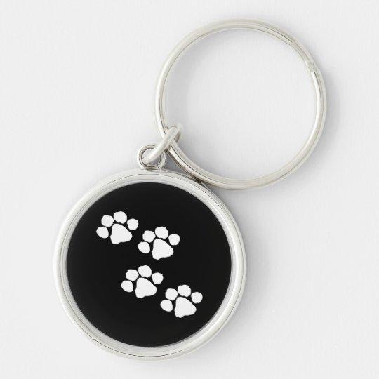 Animal Paw Prints Keychain
