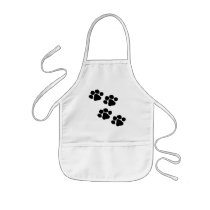Animal Paw Prints Kids' Apron