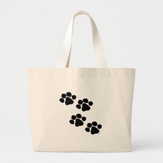 Animal Paw Prints Large Tote Bag