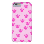 Animal Paw Prints. Light Pink and Bright Pink. Barely There iPhone 6 Case