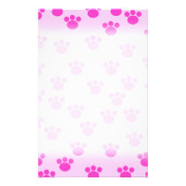 Animal Paw Prints. Light Pink and Bright Pink. Flyer