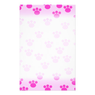 Animal Paw Prints Light Pink and Bright Pink Flyers
