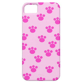 Animal Paw Prints. Light Pink and Bright Pink. iPhone SE/5/5s Case