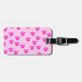Animal Paw Prints. Light Pink and Bright Pink. Tags For Bags