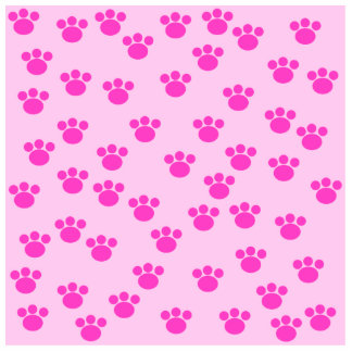 Animal Paw Prints. Light Pink and Bright Pink. Acrylic Cut Out