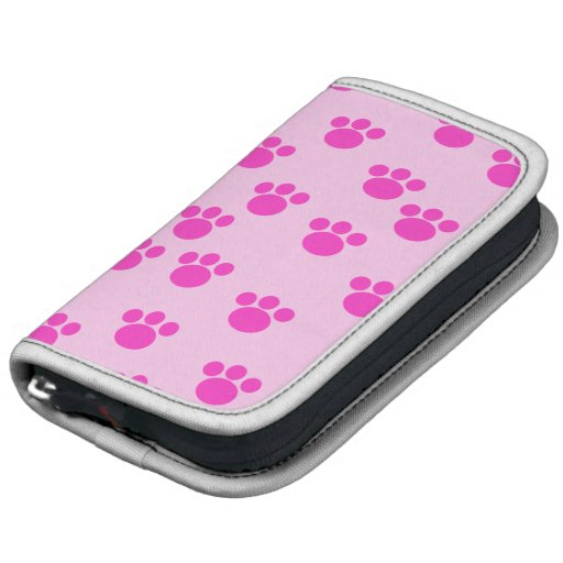 Animal Paw Prints. Light Pink and Bright Pink. Folio Planners