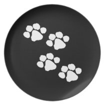Animal Paw Prints Melamine Plate