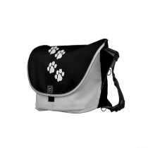 Animal Paw Prints Messenger Bag