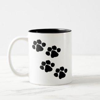 Animal Paw Prints Mug