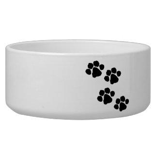 Animal Paw Prints Dog Water Bowl