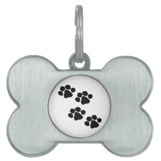 Animal Paw Prints Pet Name Tags