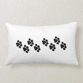 Animal Paw Prints Throw Pillows