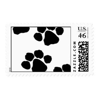 Animal Paw Prints Postage Stamps