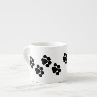 Animal Paw Prints Espresso Mugs