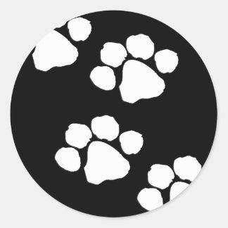 Animal Paw Prints Classic Round Sticker
