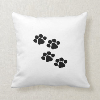 Animal Paw Prints Throw Pillow