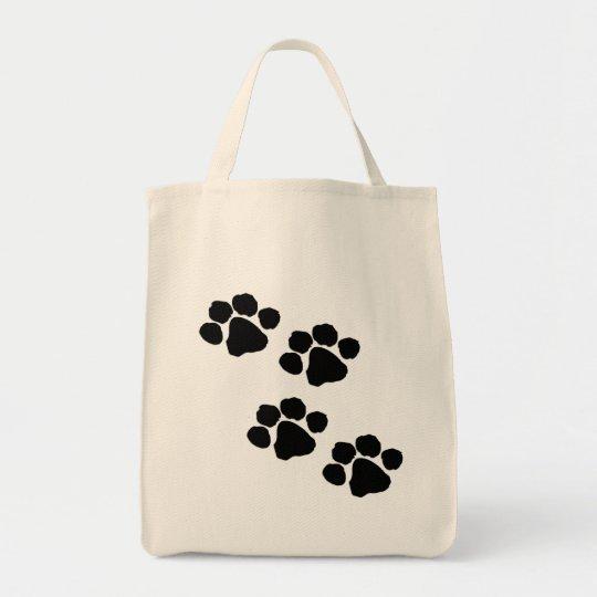 Animal Paw Prints Tote Bag
