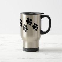 Animal Paw Prints Travel Mug