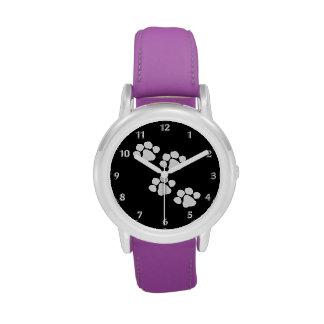 Animal Paw Prints Wrist Watch