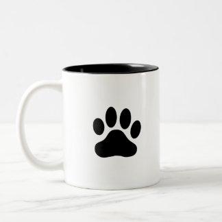 animal paw Two-Tone coffee mug