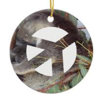 Animal Peace Ceramic Ornament