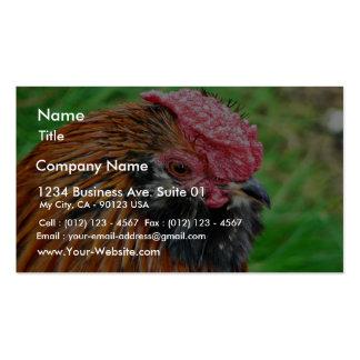 Animal pequeno de la gallina tarjetas de visita