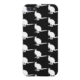 Animal Pern. Wallabies in Black and White. iPhone 5 Cover