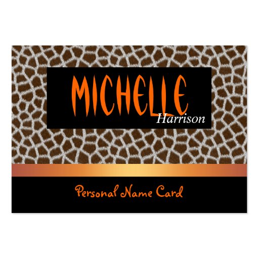 Animal personal del oro del café de la tarjeta de  tarjetas de visita grandes