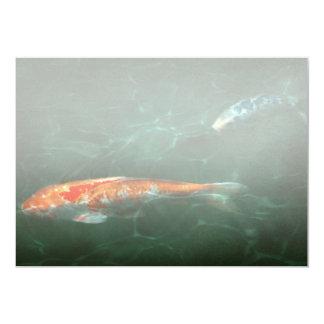 """Animal - pescado - Koi - otra historia de los Invitación 5"""" X 7"""""""