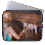 Animal - Pig - Feeding piglets Laptop Sleeves