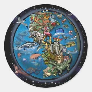 Animal Planet Round Stickers