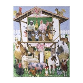 Animal Playhouse Canvas Print