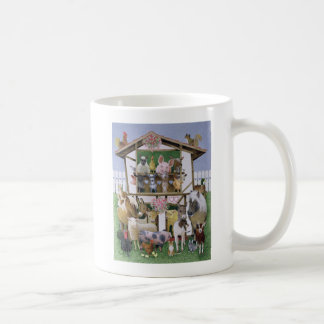 Animal Playhouse Classic White Coffee Mug