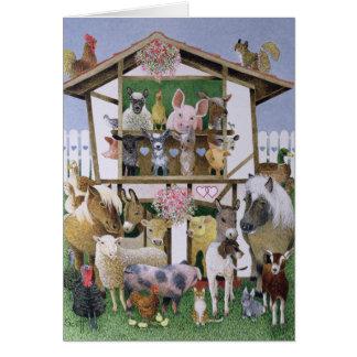 Animal Playhouse Greeting Card