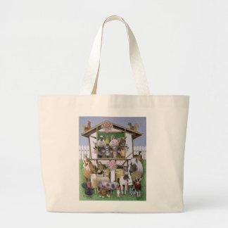 Animal Playhouse Jumbo Tote Bag
