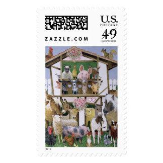 Animal Playhouse Postage Stamps