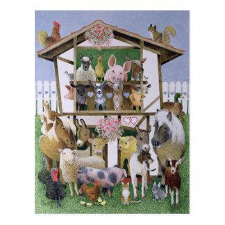 Animal Playhouse Postcard