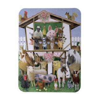 Animal Playhouse Rectangular Photo Magnet
