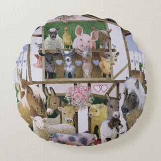 Animal Playhouse Round Pillow