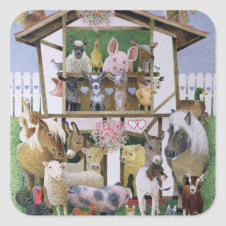 Animal Playhouse Square Sticker